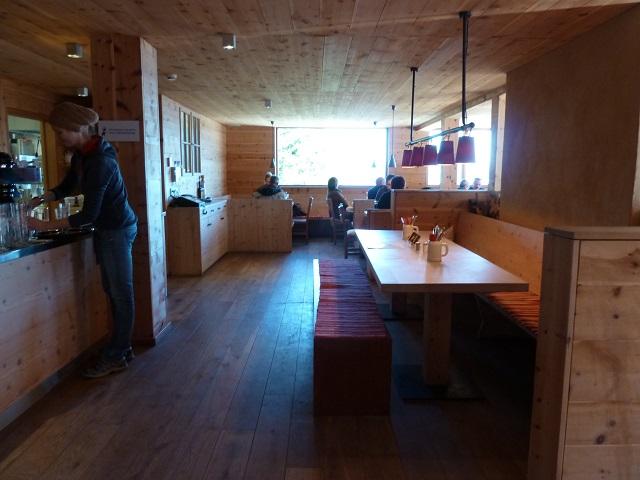 Gaststube im Sportheim Böck auf der Alpspitz