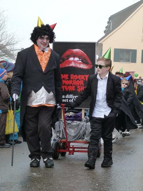 Rocky Horror Picture Show auf dem Faschingsumzug Obergünzburg 2015