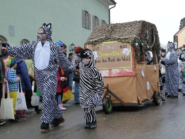 Immenthaler Zebras im Fasching