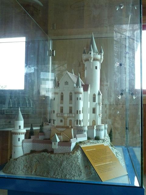 Burgenmodell im Burgenmuseum auf dem Falkenstein