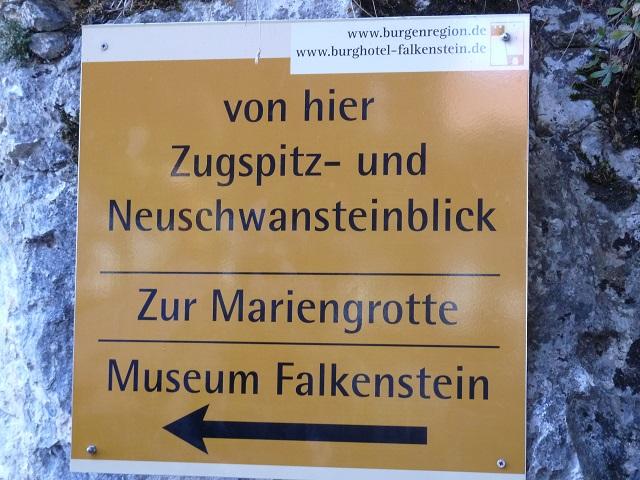 Falkenstein-Hinweisschild