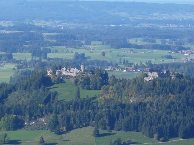 Ruinen Eisenberg und Hohenfreyberg vom Falkenstein aus gesehen