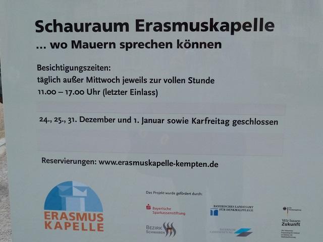 Erasmus-Kapelle-Schild
