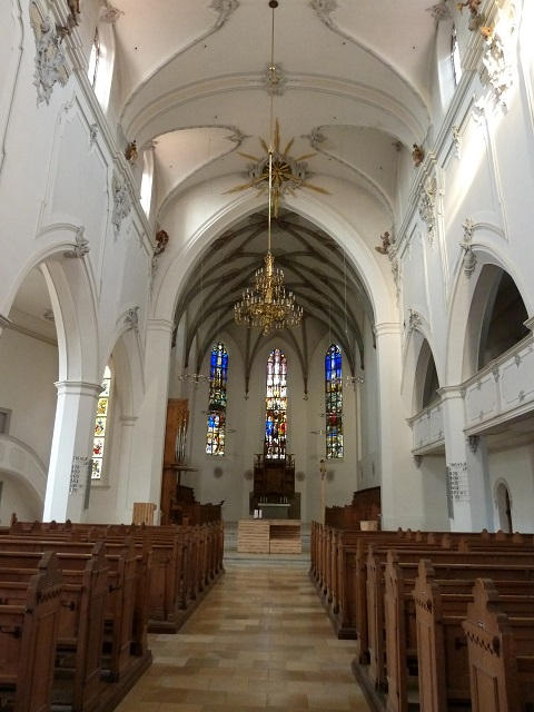 Innenraum der St. Mang-Kirche in Kempten