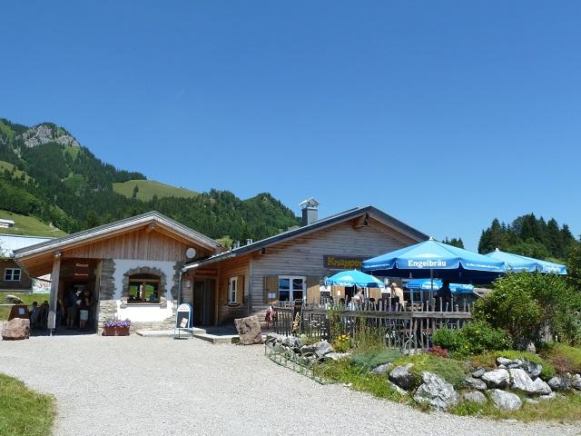 Eingang zur Erzgruben Erlebniswelt am Grünten bei Burgberg