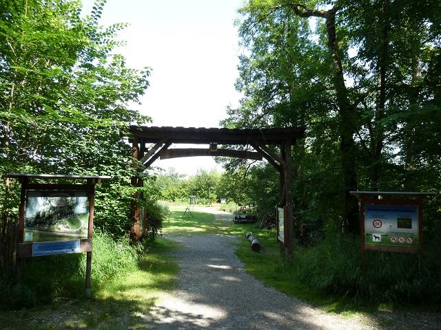 Eingang zum Naturlehrgarten Mindelheim