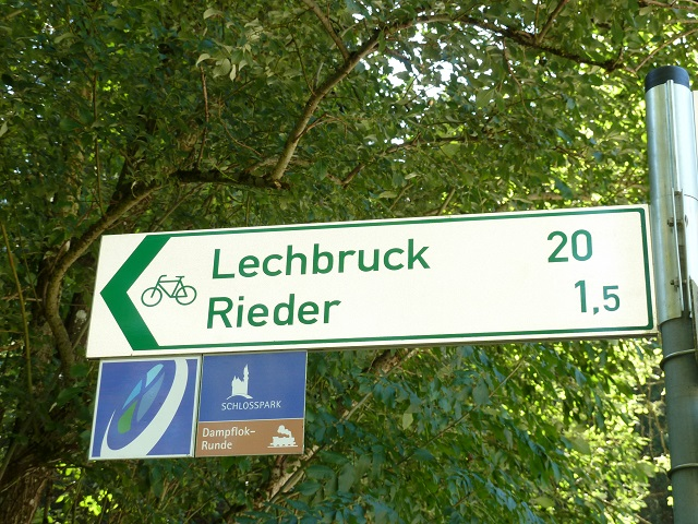 Radweg Schild - Dampflokrunde