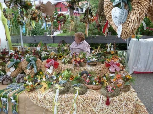 Stand am Krämermarkt Kranzegg - Trockenblumen