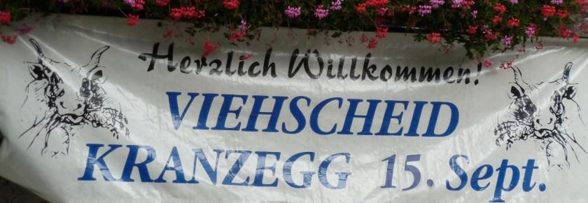 Banner zum Viehscheid Kranzegg 2016