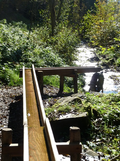 Holzleitung zum Wasserrad am Galetschbach
