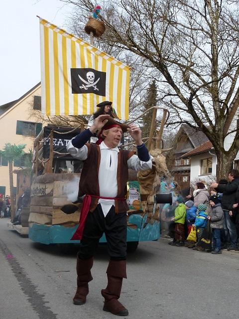 Faschingsumzug Obergünzburg 2017 - Piratenschiff