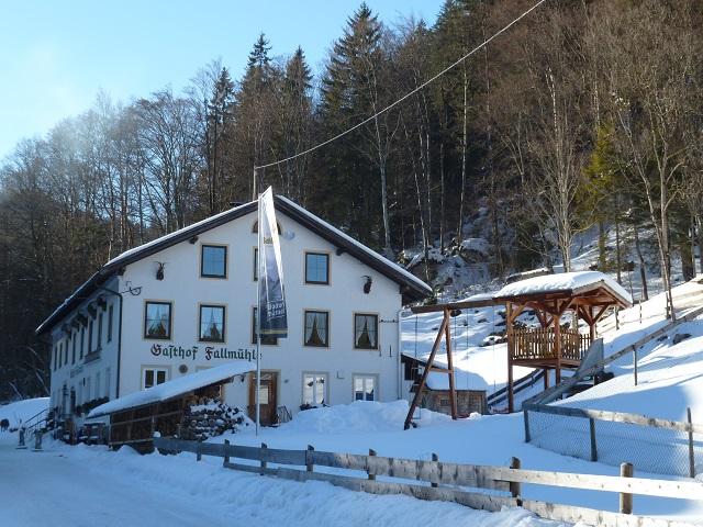 Gasthof Fallmühle bei Pfronten im Winter