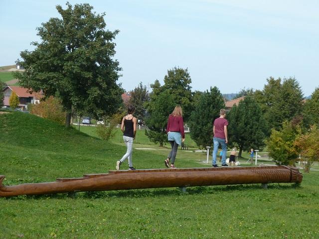 Spielplatz Roßhaupten - Balancierdrache