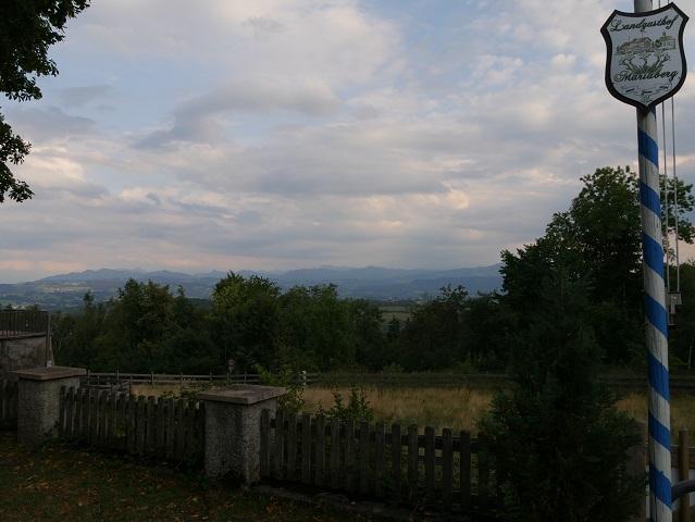 Bergblick vom Landgasthof Mariaberg aus