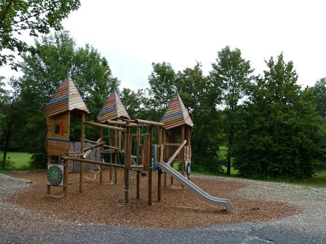 Spielplatz Engelhaldepark Kempten - Klettergerüst