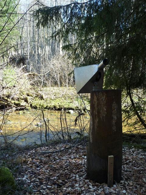 Wasser-Hörrohr auf dem Naturerlebnispfad Görisried