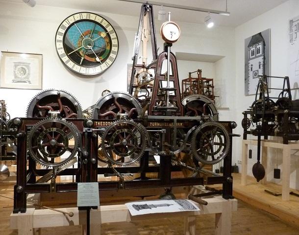 Uhrwerk im Schwäbischen Turmuhrenmuseum Mindelheim