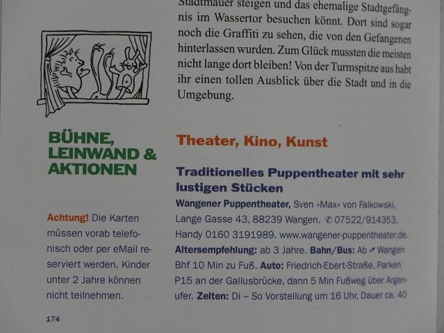 Blick ins Buch Allgäu mit Kindern - Bühne, Leinwand und Aktionen