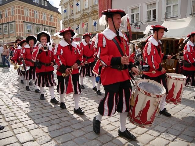 Fanfarenzug Daugendorf auf dem Tänzelfest in Kaufbeuren
