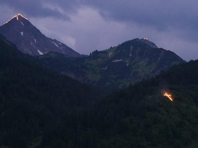 Gipfel in Flammen im Tannheimer Tal 2017