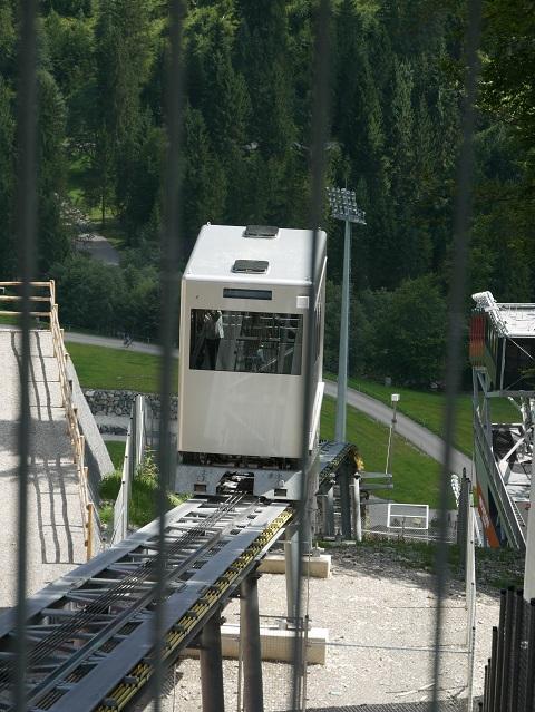 Schrägaufzug an der Heini-Klopfer-Schanze