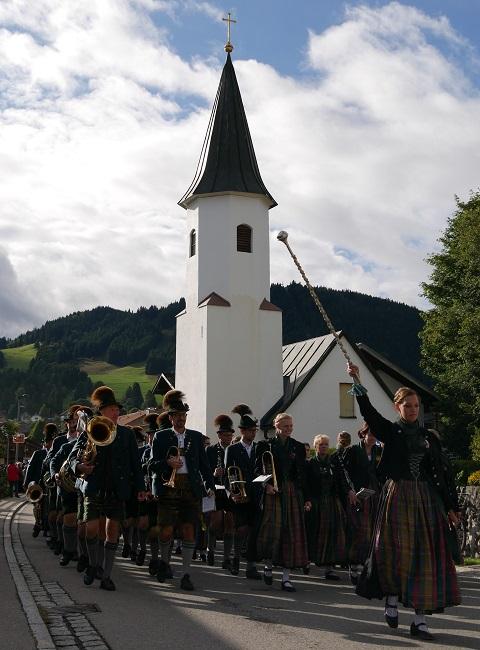 Musikkapelle Buching beim Viehscheid