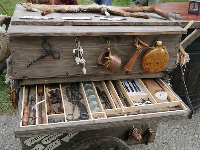 mobile mittelalterliche Apotheke
