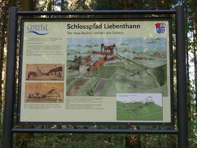 Infotafel am Schlosspfad Liebenthann