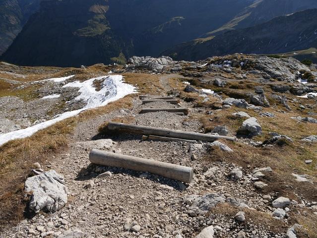 Abstieg durch das Pfannenhölzle am Nebelhorn