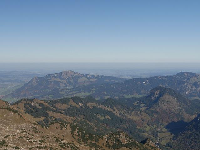 Blick vom Nebelhorngipfel auf den Grünten