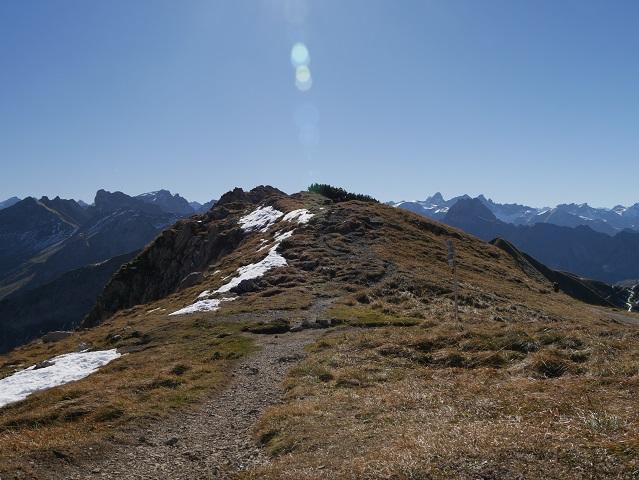 Wanderweg durchs Pfannenhölzle am Nebelhorn
