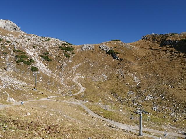 Wanderweg vom Pfannenhölzle zur Station Höfatsblick am Nebelhorn