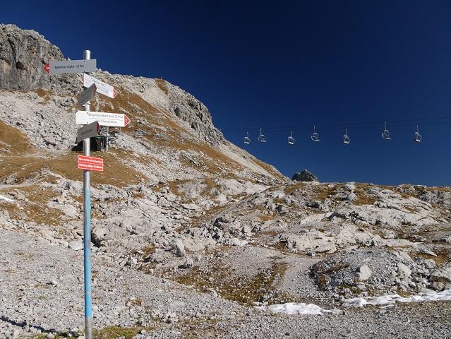 Wegweiser zum Pfannenhölzle am Nebelhorn