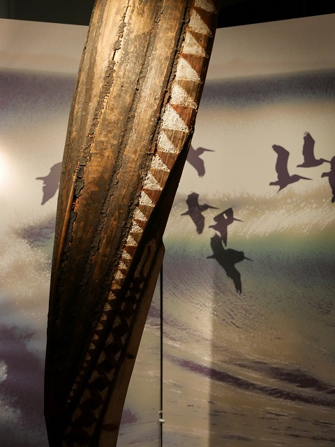 traditionelles Einmannboot aus der Südsee