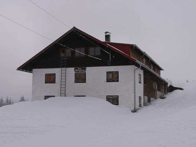 Alpe Mittelberg im Gunzesrieder Tal im Winter