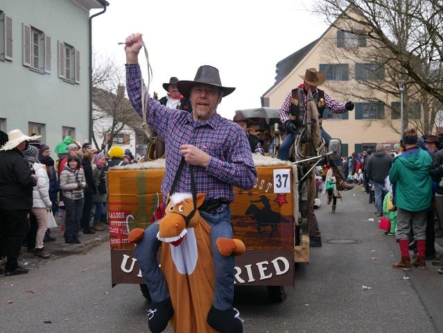 Cowboys aus Untrasried auf dem Faschingsumzug Obergünzburg 2018