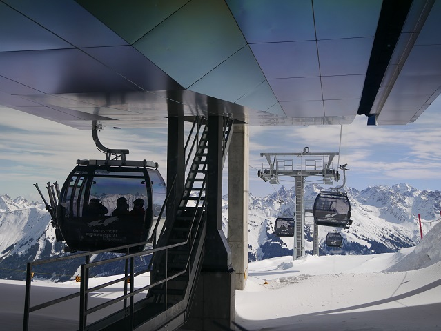 Talfahrt von der Bergstation der Ifenbahn im Kleinwalsertal