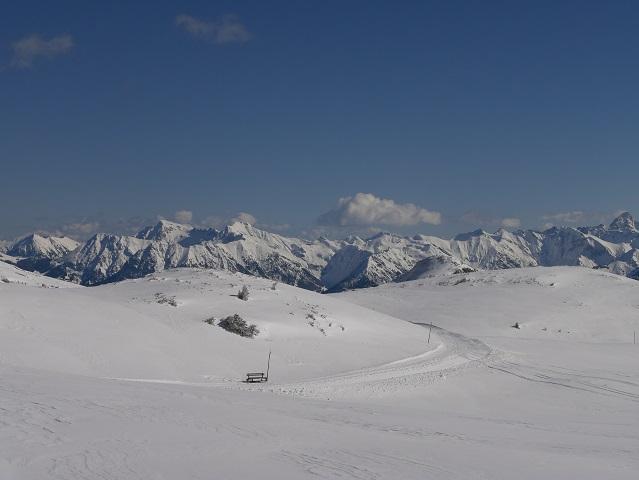 Winterwanderweg am Hohen Ifen im Kleinwalsertal