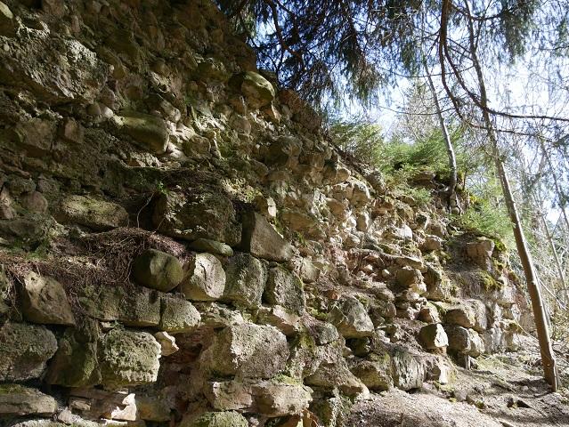 Mauerrest an der Ruine der Nesselburg