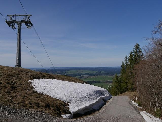 Rundwanderung an der Alpspitz - Abzweigung an der Alpspitzbahn