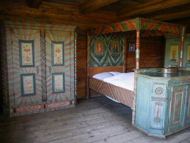 Schlafkammer eines reichen Bauern aus dem 19. Jahrhundert
