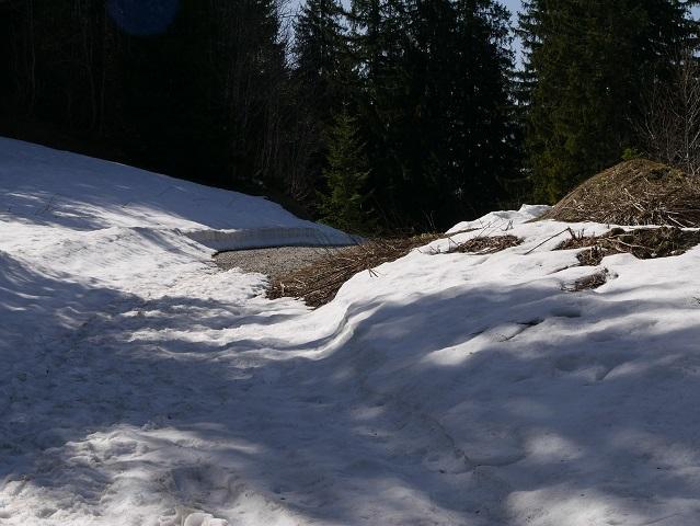 Schneereste auf der Alpspitz