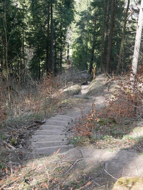 Wanderweg von der Ruine Nesselburg zum Parkplatz an der Alpspitz
