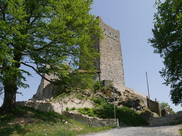 Eingang zur Burgruine Sulzberg