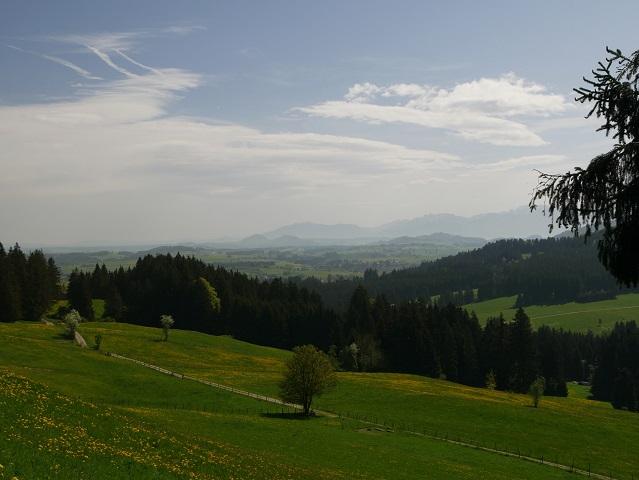 Panoramablick vom Panoramaweg Oy-Mittelberg