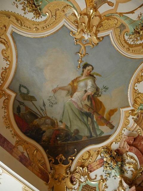 Allegorische Darstellung des Friedens in der Residenz Kempten