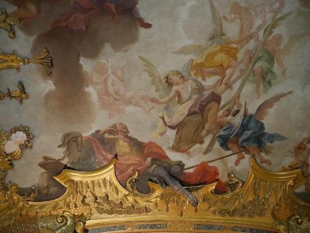 Deckengemälde Jakob und die Himmelsleiter in der Residenz Kempten