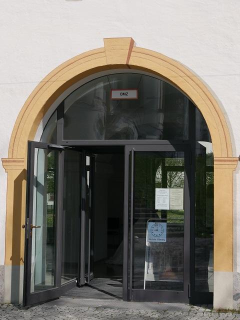 Eingang zur Führung durch die Prunkräume der Residenz Kempten