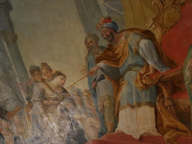 Esther und Ahasverus - Deckengemälde in der Residenz Kempten