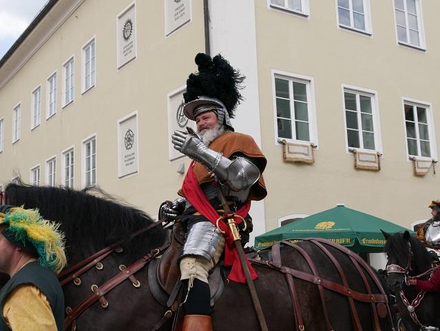 Georg von Frundsberg auf dem Festumzug in Mindelheim 2018
